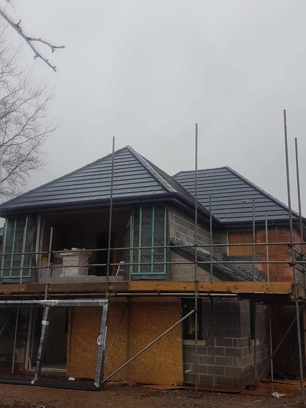 As part of extension and renovation works this property in Blagdon was given a new roof