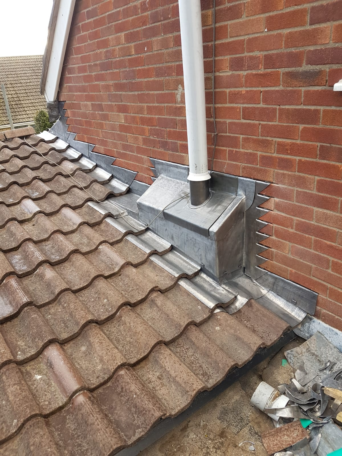 An example of finished lead work – our experienced team ensure a clean crisp finish to all lead works