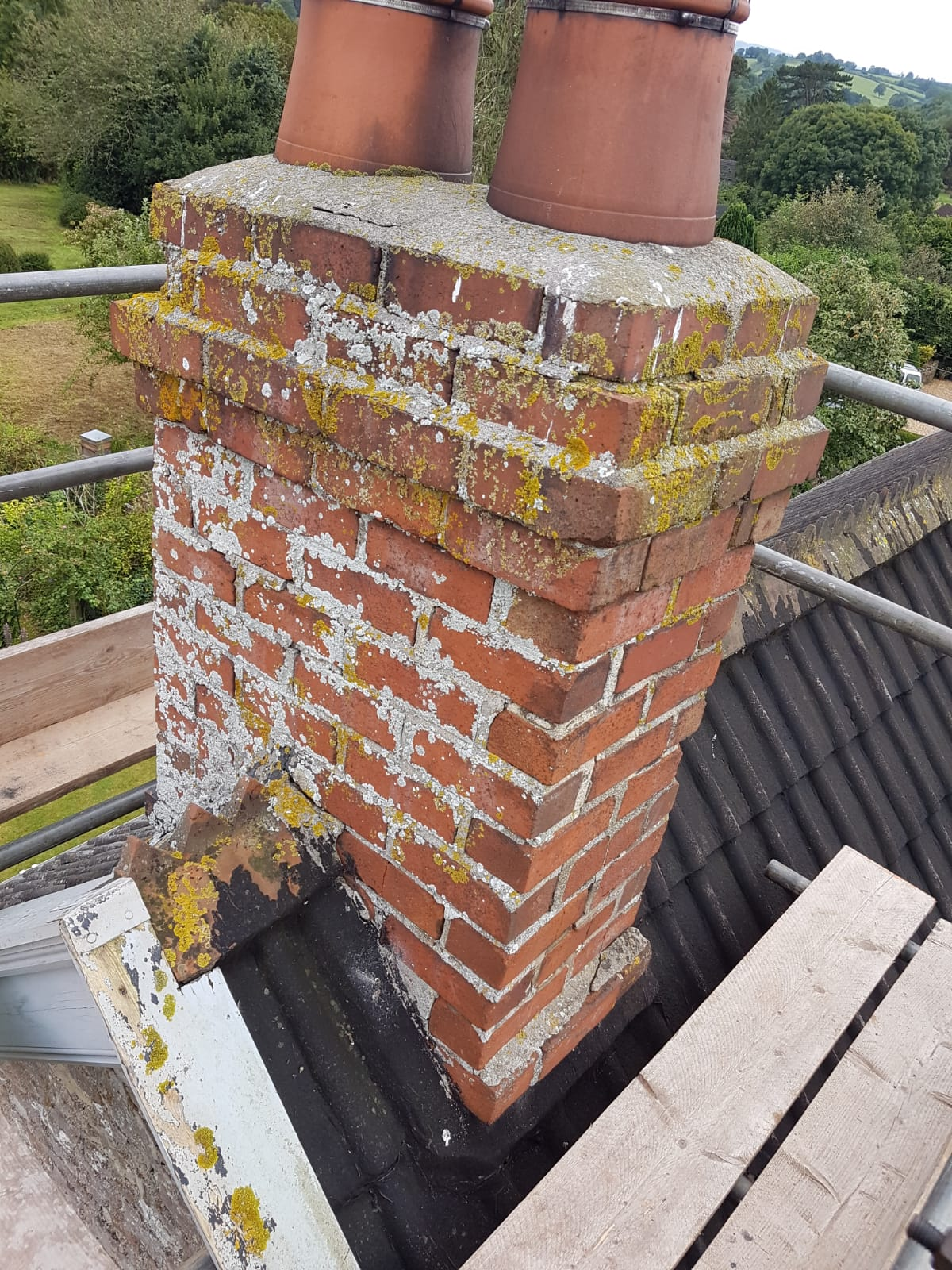 This chimney was in need of some TLC