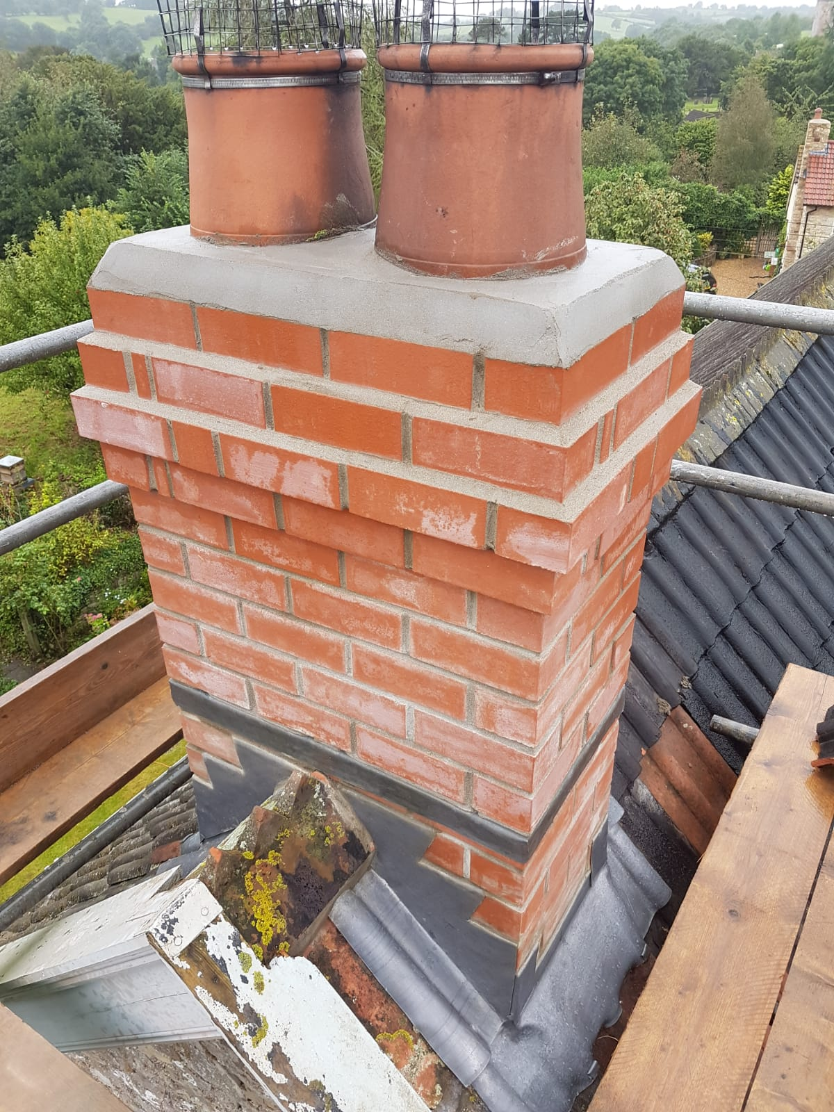 The chimney once Vears Roofing had completed works