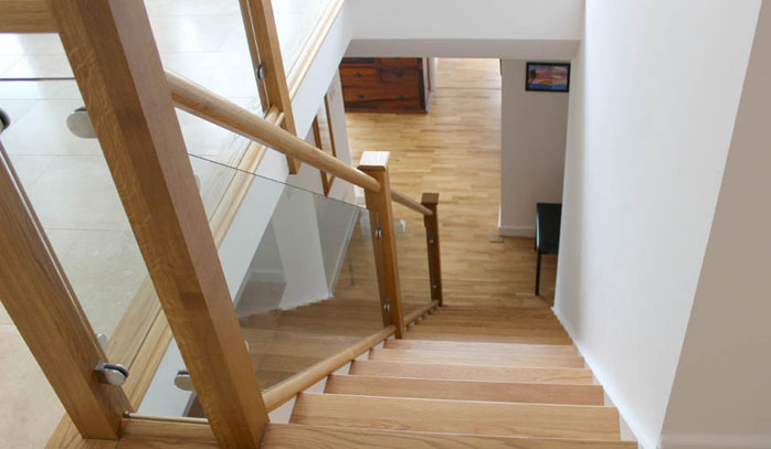 Interior Stairs and Hall Development